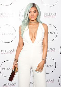 Kylie Jenner's pastel blue hair