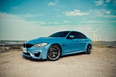 F80 M3, never seen blue with BBS