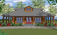 House Plan 6471-00032 - Country Plan: 1,225 Square Feet, 2 Bedrooms, 2 Bathrooms