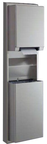 Bobrick 3979 ClassicSeries Stainless Steel Surface Mounted Convertible Automatic, Universal Roll Towel Dispenser/Waste Receptacle, Satin Finish, 12 Gallon Capacity, 17-1/2″ Width x 56-5/16″ Height