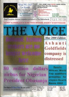 Cover Page for The Voice magazine issue No 10