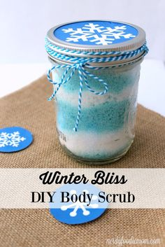 Winter Bliss DIY body scrub recipe - this makes a great DIY Christmas gift idea for anyone who needs some pampering in their life!