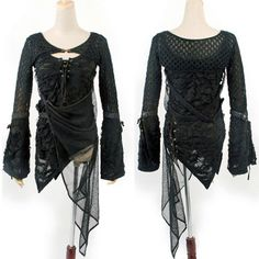 Black Emo Burlesque Gothic Punk Scene Tops Clothes for Women. Club clothes, not for everyday. Lolita Fashion, Gothic Fashion, Rock Fashion, Alternative Outfits, Alternative Fashion, Gothic Outfits, Look Cool, Types Of Fashion Styles, Blouses For Women