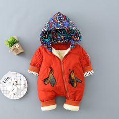 * Breathable and soft<br /> * Zipper closure front<br /> * Material: 100% Chinlon<br /> * Machine wash, tumble dry<br /> * Imported<br /> <br /> Lovely hood print pep up a baby one piece crafted with zipper closure front that makes diaper change quick and easy.