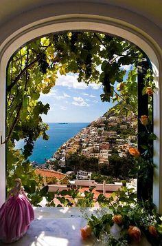 #Positano vista da una finestra .... Molto romantico ;-)