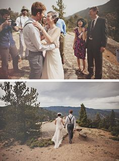 after seeing this, who doesn't want a wedding on a mountain top? soooo beautiful.