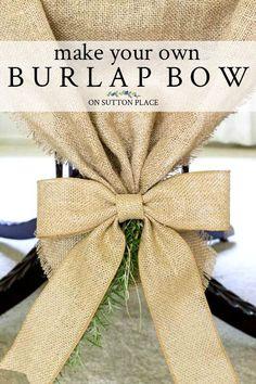 Burlap Bow: Easy DIY