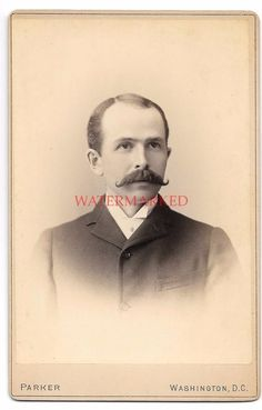 ID'd Frank Partridge Victorian Cabinet Card Photo Parker Washington DC Mustache | Collectibles, Photographic Images, Vintage & Antique (Pre-1940) | eBay!