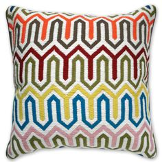 Jonathan Adler Bargello Chevron Pillow. ($175.00) Too bad it is out of my budget. Should try and make a DIY version...