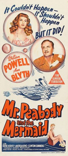 Mr. Peabody and the Mermaid, 1948.