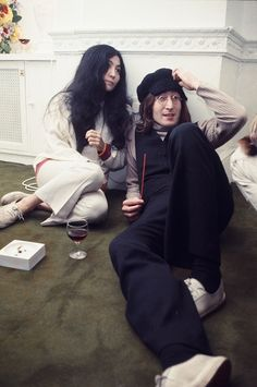 "magnifique-john: ""  John Lennon and Yoko Ono Christmas party at Apple Corps Ltd. London, 1968 December """
