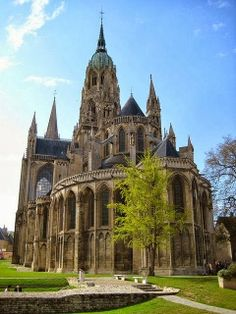 Bayeux cathedral, Normandy, France... I've actually been here and it was breathtaking-Katie