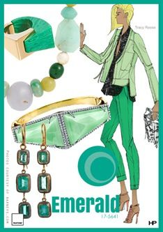 YES on Emerald! Pantone 2013 Spring Colors in Emerald