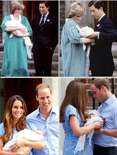 Times change....Charles wore a suit when they leave the hospital, but William, a more modern royal dresses casually to introduce his son to the world.
