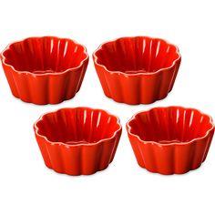 Jogo  4 Petisqueiras Edu Guedes p/Cupcake Vermelha - Bon Gourmet
