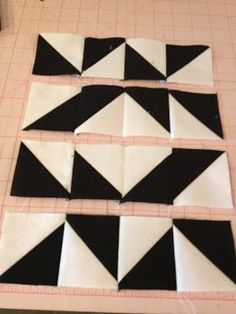 knit 'n lit: Modern Half-Square Triangle Quilt-a-Long Block 6