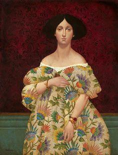 Madam Papier an Original Painting by James Christensen