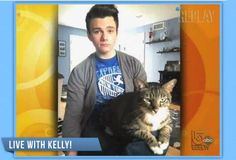 "Chris Colfer Dishes About His Adopted Cat On ""Live with Kelly!"""