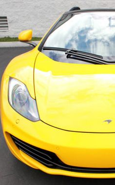 'Explosive' Volcano Yellow #McLaren MP4-12C Spider #spon