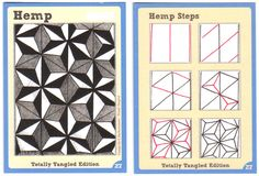 BEEZ in the Belfry: Tangle Card Challenge #5 - Hemp (And #6!)