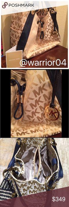 2X HP 7/5/16 & 6/8/16Michael Kors Purse NWT Michael Kors Purse Navy Dark Blue and Tan NWOT Michael Kors Bags