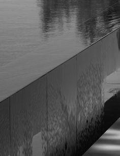 Infinity pool edge detail by John Pawson