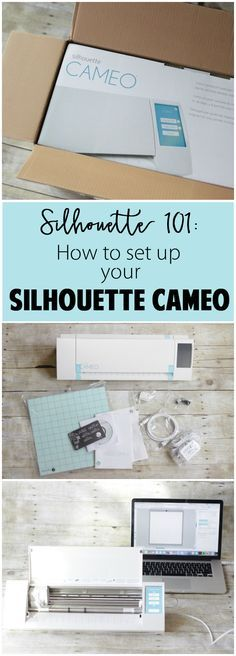 Silhouette 101: How to set up your Silhouette CAMEO. This beginner series is packed with tips and tricks just for newbies! Pinning!!