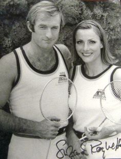 Outdoors tennis on the Moon... Space 1999: The Last Sunset  Nick Tate as Alan Carter & Suzanne Roquette as Tanya Alexander