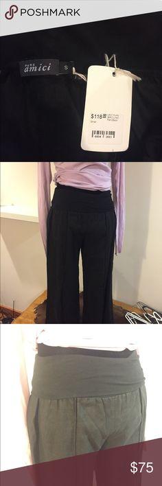 Linen black pants AMCI black linen pants pure amici Pants Boot Cut & Flare