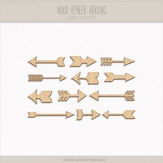 Wood Veneer Arrows by Gina Cabrera. Special thanks to Miss Tiina & Just Jaimee @ SugarHillCo.com. PU ONLY.