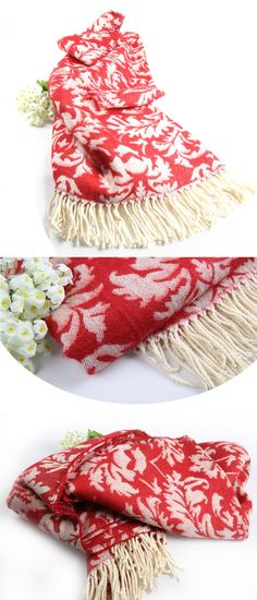 Fashion decorative flower printing cape blanket decoration carpet130x170cm  knitted blanket $20.8