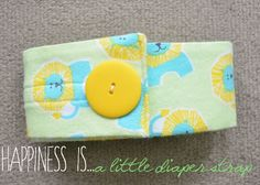 Make your own Diaper Strap!  www.happinessiscreating.com