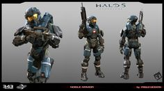 ArtStation - Halo 5 Guardians _ Noble Armor, pablo vicentin