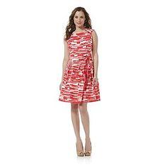 Covington Women's Sleeveless Fit & Flare Dress - Geometric