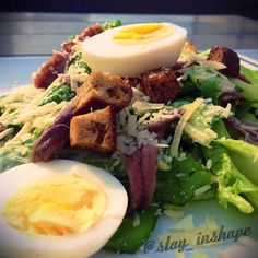 # Lettuce, bread,  fish, 1 boiled egg, cheese, olive oil and lime juice!!  Salads are the bomb!!
