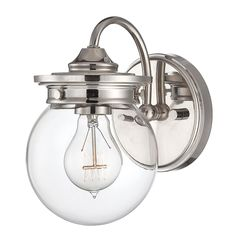 Bath Sconces Traditional traditional clear glass globe sconce | globe, traditional and glass