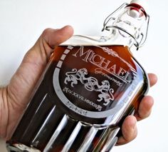 Did you get something special for your Groom yet? Personalize a memorable flask! ScissorMill.com