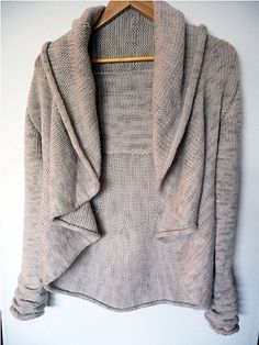 Circle sweater with added back yoke and sleeves