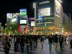 Shibuya Crossing, Tokyo busiest intersection in the world. 4/4 night. Ramen dinner with vending machine.