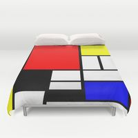 Mondrian Duvet Cover by Deco Furniture, Unique Furniture, Cheap Furniture, Furniture Design, Industrial Furniture, Bedroom Furniture, Piet Mondrian, Bauhaus, Geometric Curtains