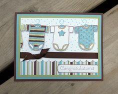 handmade congratulations baby cards  | Baby Boy Card - Handmade Greeting Card - Handstamped - Congratulations ...