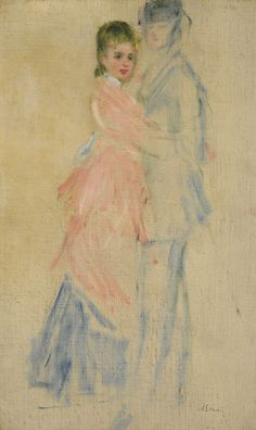 La Danse, Étude Pour le Moulin de la Galette 1876. Pierre-Auguste Renoir…