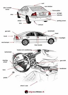 how to describe a car in english