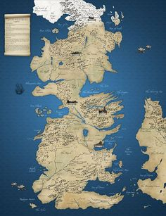 Game of Thrones Map https://www.etsy.com/listing/170825992/game-of-thrones-map #Map #Gameofthrones