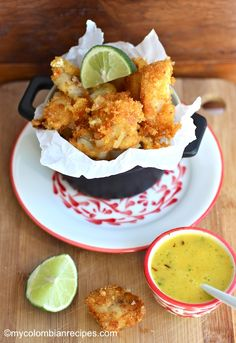 Fish Fritters with Mango Sauce
