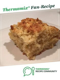 Recipe TOO EASY APPLE SLICE by Thermomistress, learn to make this recipe easily in your kitchen machine and discover other Thermomix recipes in Baking - sweet. Thermomix Desserts, Easy Desserts, Pear Recipes, Sweet Recipes, Jelly Slice, Apple Cake, Apple Slices, Desert Recipes, Sweets