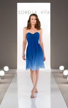 Ombre Blue Bridesmaid Dress