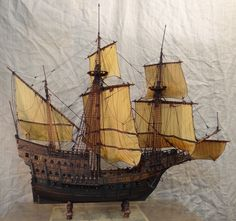 Carrack model ship