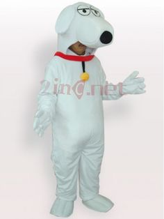 $209.73White Dog Short Plush #Adult #Mascot #Costume