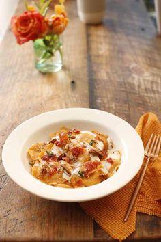 Butternut Squash Ravioli With Prosciutto, Pecans & Alfredo Sauce - Recipe by Giovanni Rana